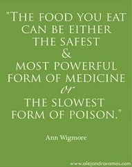 """The food you eat can be either the safest & most powerful form of medicine or the slowest form of poison."""