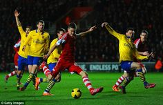 Jan. 28th. 2014: Southampton's Sam Gallagher was excellent against Arsenal in his first Premier League start.
