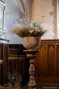 Church decorations by Zita Elze, L & B wedding, photo: Lucy Davenport