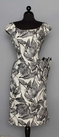 Mr. Blackwell Screen Printed Cocktail Dress, 1955-1965
