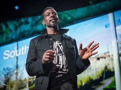 """Ron Finley plants vegetable gardens in South Central LA -- in abandoned lots, traffic medians, along the curbs. Why? For fun, for defiance, for beauty and to offer some alternative to fast food in a community where """"the drive-thrus are killing more people than the drive-bys."""""""