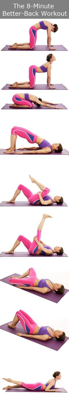 These stretches are great to strengthen your lower back- Hold each pose for 15 - 30 seconds #strength #fitness #backandcore