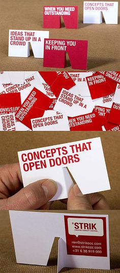 Clever Die Cut 3D Stand Up Business Cards