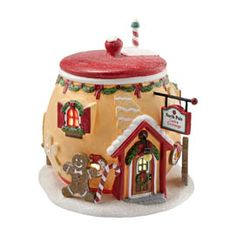 "Department 56: Products - ""North Pole Cookie Exchange"" - View Lighted Buildings"