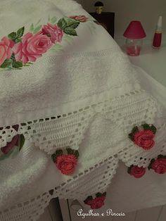 lace on towel - havluya dantel