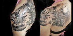Skeleton dance tattoo Disney