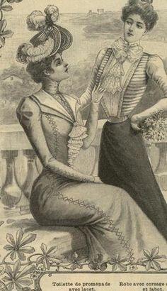 Mode ILLUSTREE Pattern June 18 1899 Walking Dress | eBay