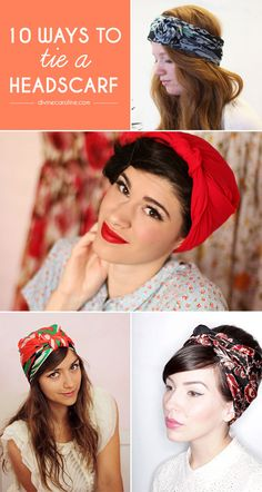 Use a headscarf for a bold statement, bad hair day, or just because! We gathered 10 cool ways to wear a headscarf here. #headscarf #hairaccessory #headband