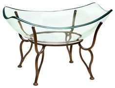 20 Monarch Glass Bowl With Stand Centerpiece