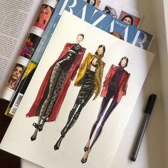Dress Design Sketches, Fashion Design Sketchbook, Fashion Design Portfolio, Fashion Design Drawings, Fashion Sketches, Fashion Drawing Tutorial, Illustration Mode, Illustrations, Fashion Illustration Dresses