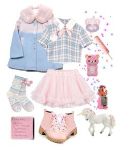 """Babydoll go out"" by margegrimm ❤ liked on Polyvore featuring LILI GAUFRETTE, Zone, Lipsy, LIST, Pink, BabyGirl and pastel"