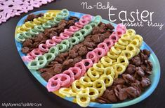 Perfect party tray for Easter no baking no dishes lots of compliments Easy Easter Desserts