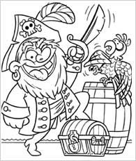 pirate things for 2nd graders Funschool Pirates Coloring