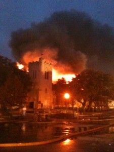 First Baptist Church, Temple, Tx  January 19, 2010  One of a string of arson attacks on churches in Texas