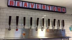 The Bar at the Beavertown Brewery Tap Room