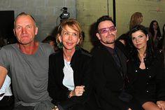 Sting, Trudie, Bono, Ali