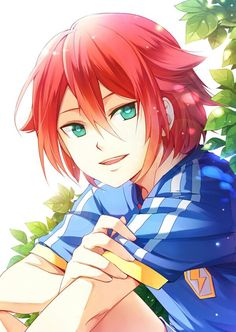 80 best red hair - pink hair images in 2016 Anime Chibi, Anime W, Girls Anime, Fanarts Anime, Cute Anime Guys, Anime Kawaii, Manga Cute, Manga Boy, Anime Guy Blue Hair