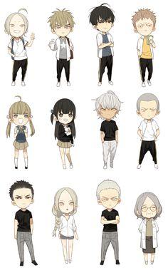 19 days chibi So cute! Anime Chibi, Kawaii Anime, Manga Anime, Fanarts Anime, Manhwa Manga, Manga Art, Anime Art, 19 Days Anime, 19 Days Manga Español