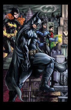 Batman and Co. Print. $10.00, via Etsy.