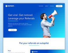 "Check out new work on my @Behance portfolio: ""Referrals Landing Page"" http://be.net/gallery/64529175/Referrals-Landing-Page"