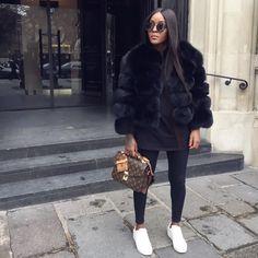 Freedom Of Style ( Fur Fashion, Love Fashion, Fashion Looks, Fashion Outfits, Womens Fashion, Style Fashion, Mode Outfits, Trendy Outfits, Fall Winter Outfits