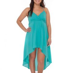 Aqua Blue Hi-Low Dress