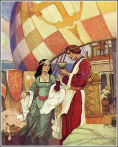Tristam and Isolde by Frank E. Schoonover