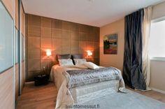 Tikkurila-asunto - Makuuhuone | Asuntomessut Curtains, Bedroom, Furniture, Painting, Home Decor, Ideas, Blinds, Decoration Home, Room Decor