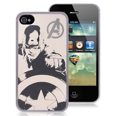 Premium Captain America iPhone 4 Cases - Avengers Silver Metallic Hard Case For Apple iPhone 4S / 4 $4.58 #iPhone4 #Cases #back #covers #awesome #cheap #free #shipping #avengers #superman #batman #spiderman #revengers #phone #accessories #iPhone #smartphones Iphone 4 Cases, Iphone 4s, Apple Iphone, Batman Spiderman, Superman, Cheap Iphones, Captain America, Phone Accessories, Avengers