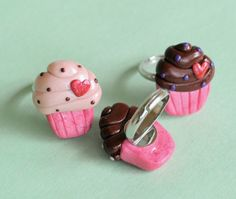 polymer clay cupcake rings