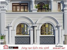 House Wall Design, Gate Wall Design, Front Wall Design, Exterior Wall Design, Main Gate Design, Facade Design, Interior Exterior, Model House Plan, New House Plans
