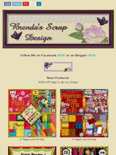 """Ad:New Scrapkit """"Plant Life"""",Buy My Store Deal,40% Off Sale,& More from Brenda's Scrap Design!https://madmimi.com/s/2dd4b4"""