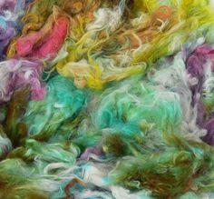 rainbow dye-pot,  pure alpaca locks www.fabinbc.com