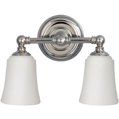 Elstead Feiss 'Huguenot Lake & Perry' IP44 Rated Bathroom 2 Light Above Mirror Light, Polished Chrome - FE/HUGOLAKE2BATH