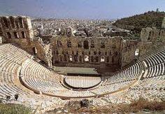 Odeon di Erode Attico; II secolo (161-174) d.C.; la struttura in pietra con pavimentazione in legno venne restaurata utilizzando marmo bianco; Acropoli.