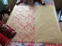 Make your own giftwrap with Quaint Decor Patterned Paint Rollers #patternedpaintrollers