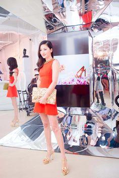 Celebrity Kathy Chow at  RogerVivier x Rizzoli  HongKong Book Launch  wearing  RogerVivier Folder 985d37589d