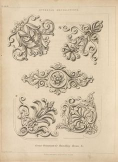 Interior decorations. Corner ornaments for panneling Rooms, &c.
