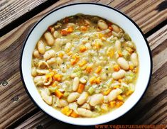 Cannellini Bean Soup - whole food, plant based deliciousness with no added oil! great for chilly nights!