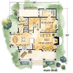 Browse country house plans with photos. See thousands of plans. Watch walk-through video of home plans. Log Cabin Floor Plans, Log Home Plans, Cabin House Plans, Log Cabin Homes, Small House Plans, Log Cabins, Cabin Design, Home Design, Small Log Homes