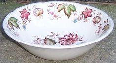 Vintage Johnson Bros China Windsor Ware Malvern Multi Colored Cereal Bowl