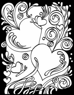 page 1 3 d coloring book hearts by dover publishing