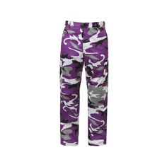 Purple Camo BDU Fatigues Pants featuring polyvore women's fashion clothing