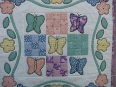 1930's Inspired Butterfly Garden Quilt by FiFisFabricsAndFinds
