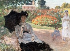 Claude Monet / Camille Monet in the Garden, 1873 Claude Monet, Artist Monet, Museums In Nyc, Monet Paintings, Impressionist Artists, Renoir, French Art, Beautiful Paintings, Caricature