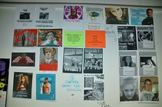 Teaching The Hunger Games: Classroom Pictures & Examples (link to my Flickr album for classroom pictures, including Hunger Games projects).