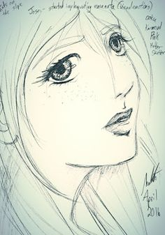 Meredith Studio: Sketch Diary: Portrait during the Josei panel
