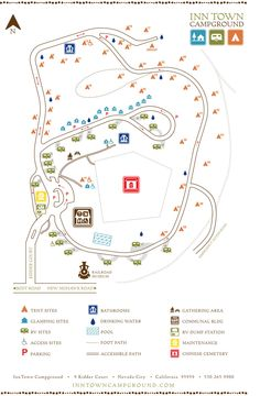 Inn Town Campground map #NevadaCIty #InnTownCampground