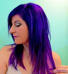 I would NOT do ALL purple..... But, I do love the bright color