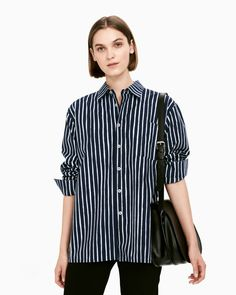 The Jokapoika shirt is a classic button-up shirt in the dark blue and blue Piccolo pattern. It has a loose fit with cuffed long sleeves, chest pocket and straight hem with side slits. Made of pure cotton with a soft, brushed hand feel. Marimekko Dress, Dress Skirt, Shirt Dress, Fashion 2020, Blue Tops, Button Up Shirts, My Style, Long Sleeve, Mens Tops